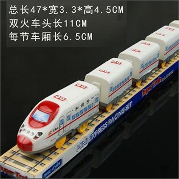 haobei皓贝 w207 儿童玩具 和谐号动车组合 5节列车车厢 电动小火车