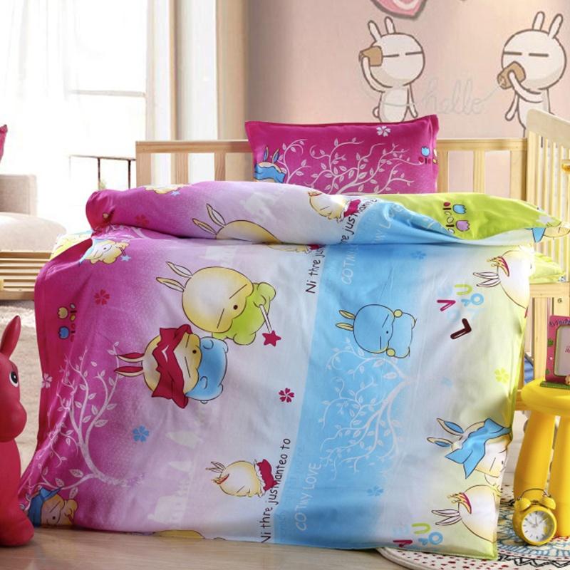 晶丽莱家纺 幼儿园被子三件套 全棉纯棉婴儿宝宝冬被儿童被褥床垫