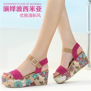 古奇天伦 女鞋靴子雪地靴皮草风反毛牛皮女鞋厚底休闲鞋女靴加绒毛雪地靴