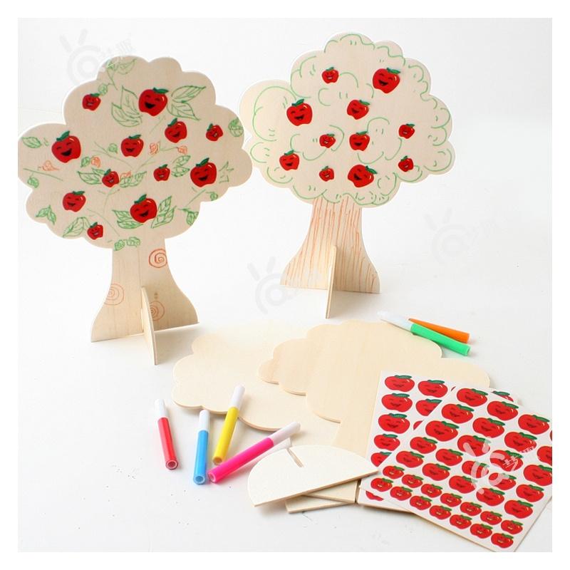 礼物diy苹果树幼儿园手工