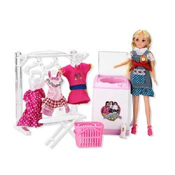 乐吉儿 梦幻洗衣机h23c 女孩益智过家家场景 洋娃娃礼物玩具 ajh55