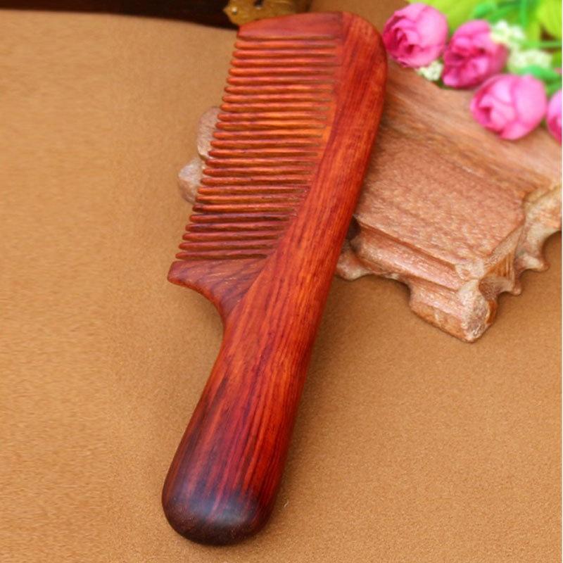 馨怡阁 木梳子 红木梳子 手工工艺 保健按摩 握感舒适型 红木26