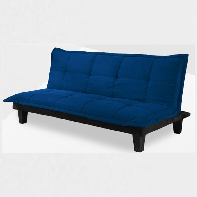 蓝色欧式布艺沙发