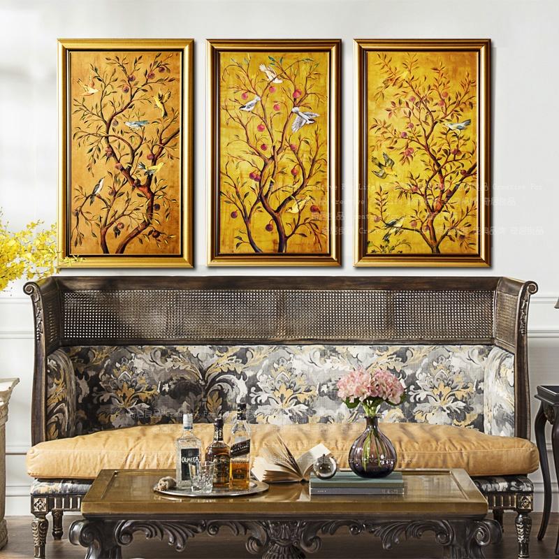 墙壁装饰 奇居良品墙壁装饰 奇居良品 高档画芯欧美式客厅玄关风水