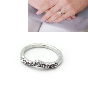 【韩国momo戒指】韩国momo-可叠带永恒闪钻戒指