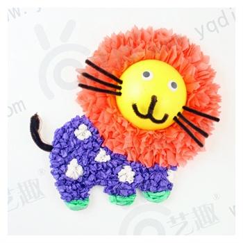 艺趣幼儿园手工材料搓纸画diy创意制作揉纸贴画玩具儿童礼物单个图片
