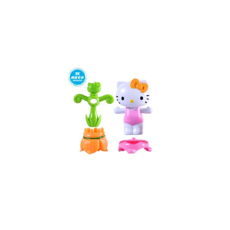 hello kitty凯蒂猫diy玩偶公仔摆件婴幼儿女孩玩具礼物花仙子套装