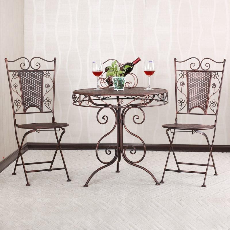 【果漫庭院家具】果漫欧式铁艺咖啡桌椅阳台桌椅户外