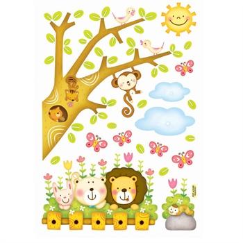 萌萌森林里的小动物|儿童插画