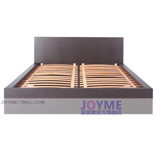 嘉宜美家具简约现代板式床1.8米双人床出租房木板床节省空间欧式