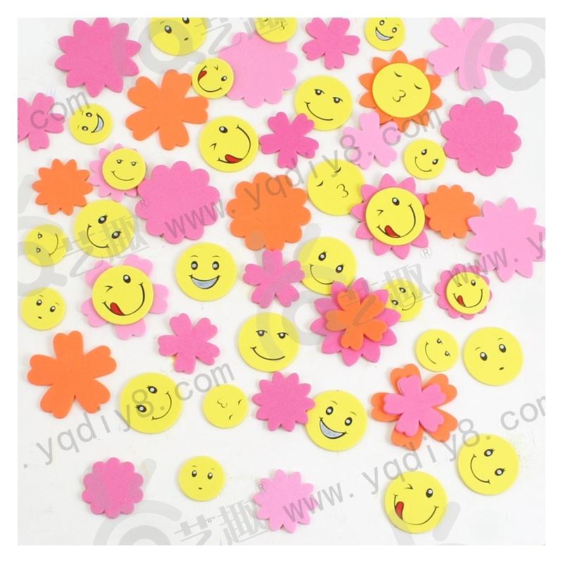 幼儿园手工材料手工diy儿童手工制作-背胶带印刷花朵