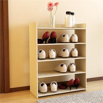 柜多层简易木鞋架置物架展