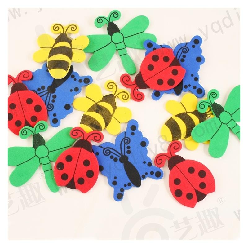 幼儿园手工材料手工diy儿童手工制作幼儿手工-背胶昆虫eva贴片