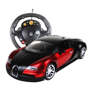 胜雄1比14方向盘遥控车布加迪威龙四通道充电漂移遥控汽车跑车儿童