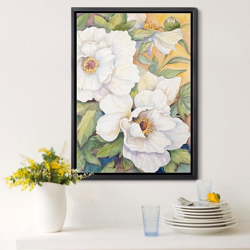 墙蛙 繁花集 油画壁画挂画墙画现代简约无框画客厅沙发墙装饰画 _d款