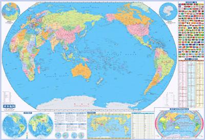 中国地理 世界地理地图-2合1 北京天经地纬文化传媒有限公司 97878075