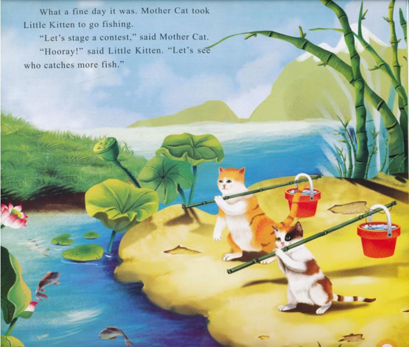 """""""小蝌蚪找妈妈、小兔子乖乖、小马过河等童话故事陪伴了一代又一代中国人的童年,在潜移默化中影响着孩子们关于热爱生命、崇敬自然、认识自我,关爱他人等等的认知。   汉英版中华传统经典故事绘本:童话故事篇包括:《小猫钓鱼》《老鼠嫁女》《小兔子乖乖》《狐假虎威》《鲤鱼跳龙门》《龟兔赛跑》《小蝌蚪找妈妈》《猴子捞月亮》《小马过河》《老虎学艺》10分册,特别适合亲子阅读,能让小朋友更快、更清晰地认知世界。   全彩原创手绘,画面优美,文字以英文为主,由外国专家审稿,同时配有中文拼音。中外小朋友不但"""