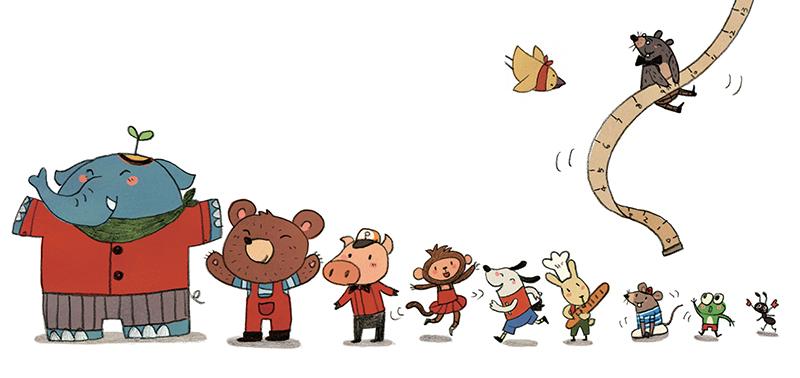 小脚印·幼儿成长认知绘本:小鼹鼠的神奇剪刀(数字认知)