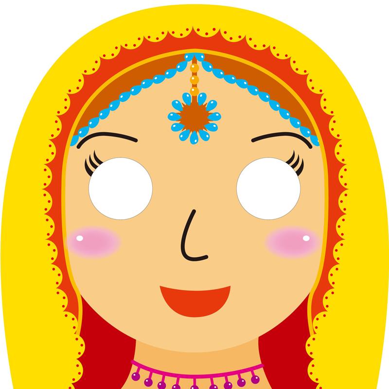 宝宝逗趣面具卡:人物表情