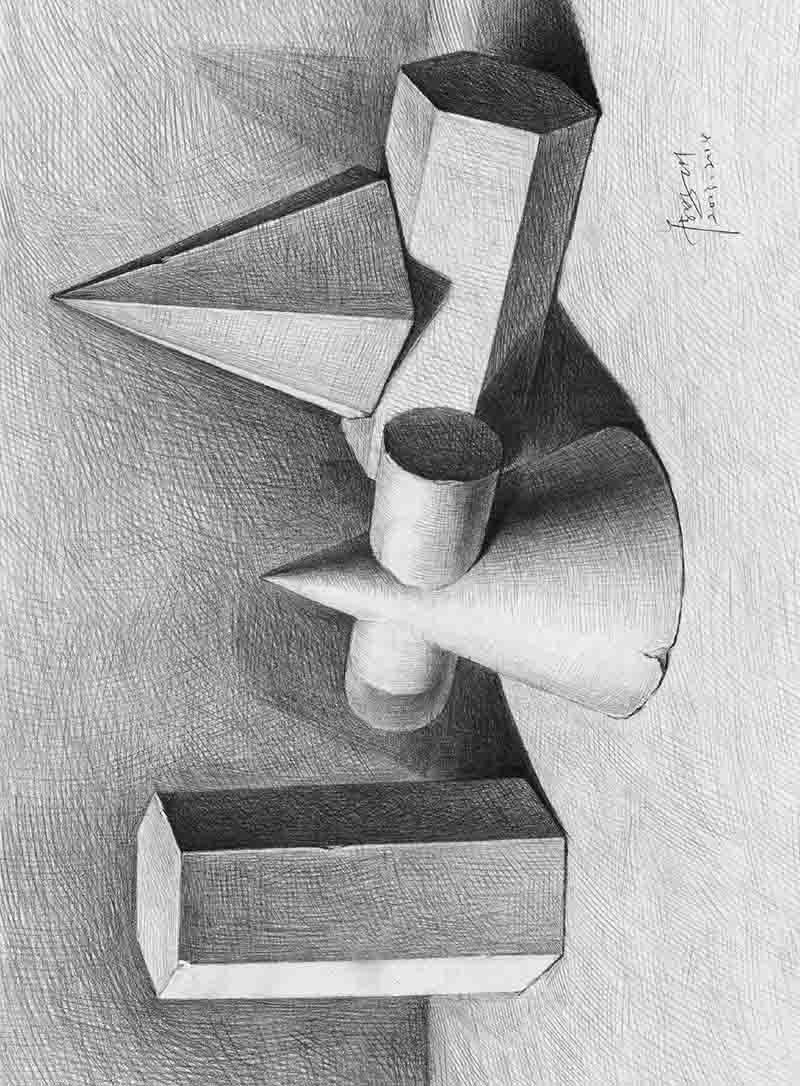 绘画起航(1):石膏几何体
