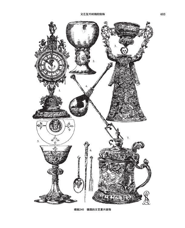 欧式古典风格手绘图