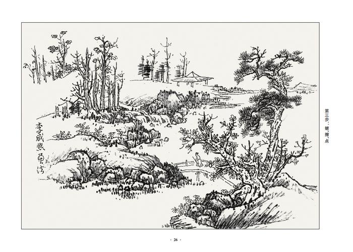 【r7】如何临摹历代名家山水画(全三卷附赠光盘) 刘松岩 北京大学出版