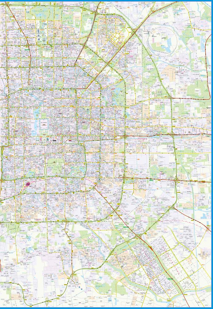 《2015北京城区地图(详查版)》