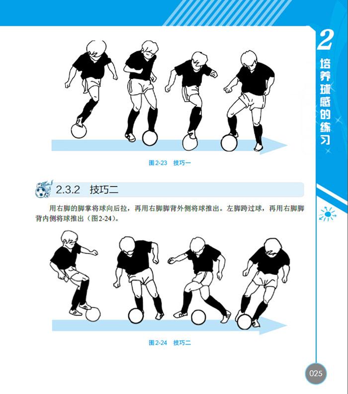 4.4 足球繞樁+射門 / 029    2.5 顛球練習 / 030    2.5.圖片