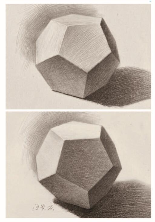 结构与透视 明暗 光线与角度对黑白灰的影响 单个几何体训练 正方体