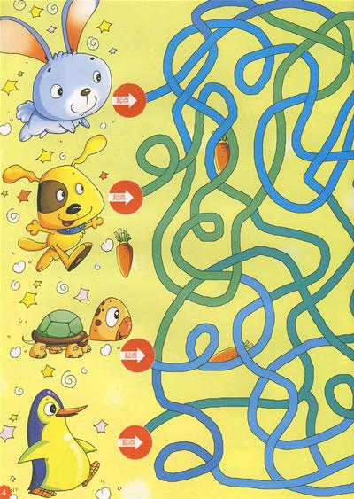 大班幼儿迷宫图片