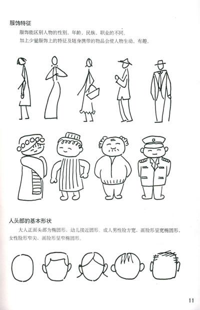 《简笔画人物画法——美术基础技法教材丛书》