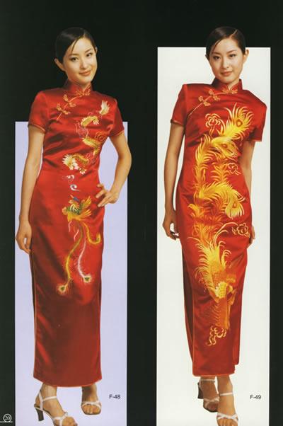 旗袍简约而又凝炼的设计