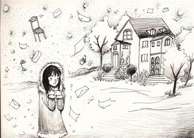 冬天插画手绘图片