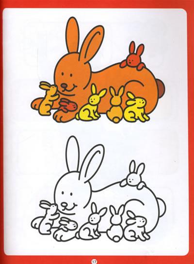 《阶梯涂色(第1阶):认识动物》((比)克罗斯雷.)