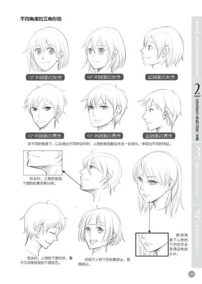 漫画人物卷发画法; 夸张漫画表情画法;