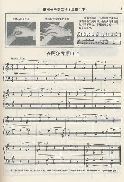 钢琴键和简谱对照图