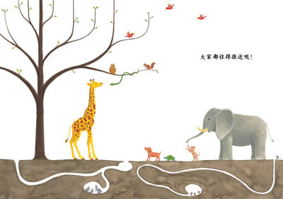 小动物手绘黑白插画