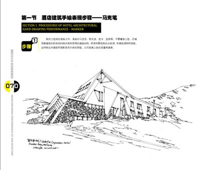 建筑手绘学习思路:(1)线条——透视——建筑配景