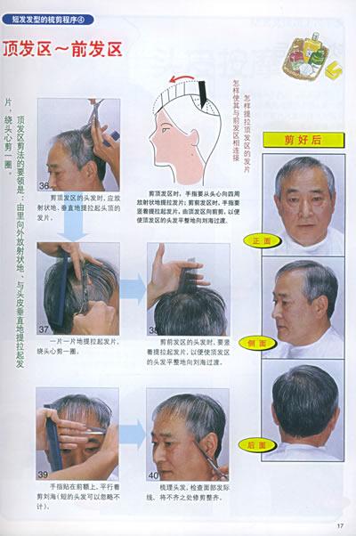 正确的握剪姿势与发剪的使用方法   理发基础知识 老年男士发型梳剪