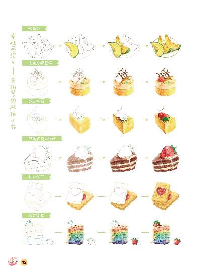 做蛋糕步骤手绘图片