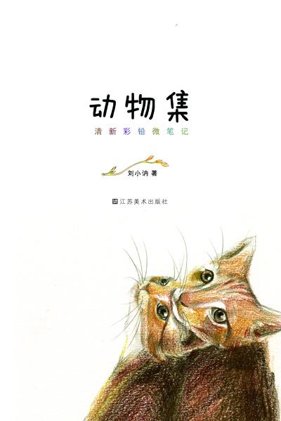 手绘彩铅书籍封面