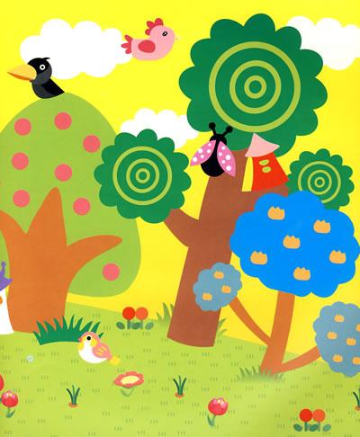 儿童创意美工 巧手贴画