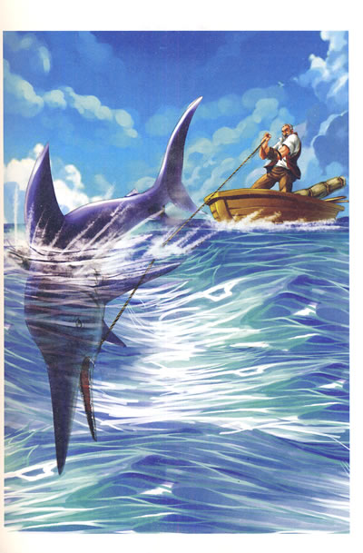 最畅销中外名著名家导读本-老人与海图片